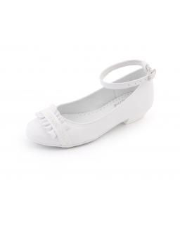 Białe półbuty dla dziewczynki 31-38 BK76
