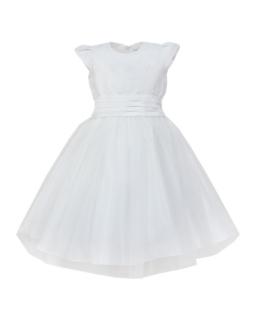 Tiulowa sukienka dla dziewczynki 98-122 Klarysa ecru