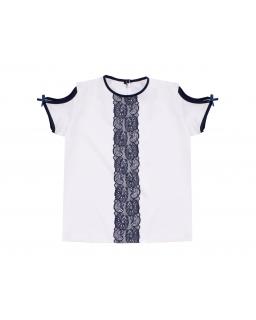 Dziewczęca bluzka wizytowa 122-158 Silena biała