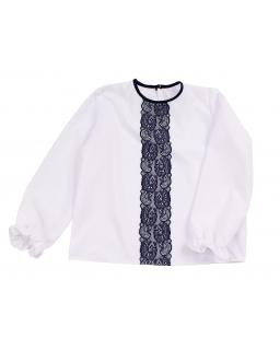 Dziewczęca bluzka z długim rękawem 122-158 Marina biała