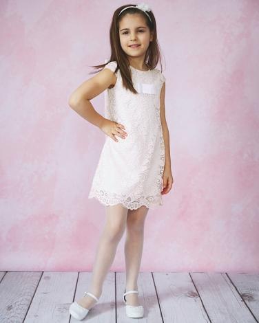 00bcfe45df Koronkowa sukienka dla dziewczynki 92-152 Amelka ecru