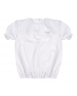 Biała bluzka dla dziewczynki 116-152 Hania 2 biała