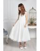 Długa sukienka wizytowa dla dziewczynki 122-152 Eliza kremowa 2