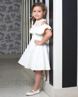 Sukienka hiszpanka dla dziewczynki 122-158 857K/ecru 1