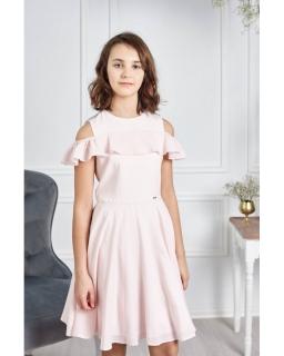 Dziewczęca sukienka okolicznościowa 134-164 Robin różowa