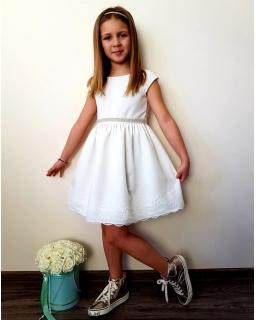 Elegancka sukienka dla dziewczynki 62-158 Urszula 3 ecru