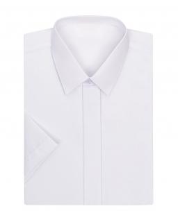 Biała koszula z krótkim rękawem dla chłopca