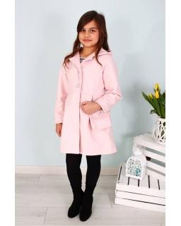 Płaszcz dla dziewczynki z torebką 128-158 Basia różowy