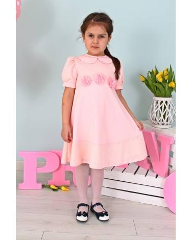 3dbdd382b0 Sukienka z kołnierzykiem dla dziewczynki 98-128 Jula różowa