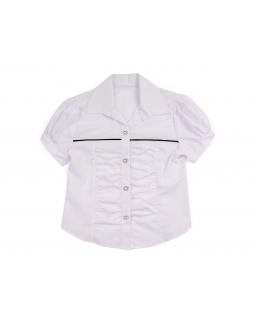 Galowa bluzka dziewczęca 122-158 Debora biała