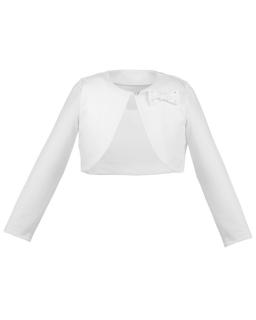 Bolerko w modnym fasonie 86-164 Simonetta biały
