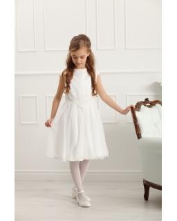 e04e84cc17 Okolicznościowa sukienka dla dziewczynki 134-164 Erna ecru