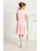 Dziewczęca sukienka szyta z koła 134-158 Barbi różowa 1