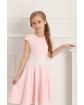 Dziewczęca sukienka szyta z koła 134-158 Barbi różowa 2