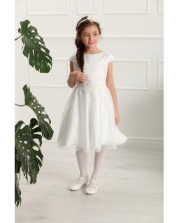 Rozłożysta sukienka dla dziewczynki 128-158 Hannah ecru