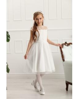 Okazjonalna sukienka dla dziewczynki 128-158 Rebecca ecru