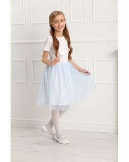 Wizytowa sukienka dla dziewczynki 128-158 Charlotte błękitna