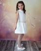Elegancka sukienka dla dziewczynki 74-158 Irma 2 ecru bok