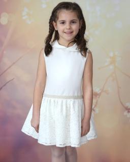 Elegancka sukienka dla dziewczynki 74-158 Irma 2 ecru tył