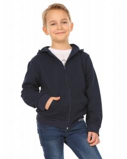 Chłopięca bluza z kapturem 116-158 KRP222 granatowa