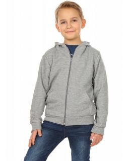 Bluza chłopięca z kapturem 116-158 KRP222 szara
