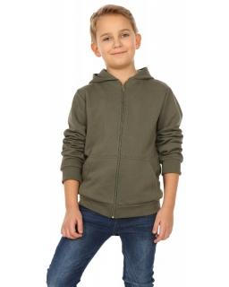 Chłopięca sportowa bluza z długim rękawem 116-158 KRP222 khaki