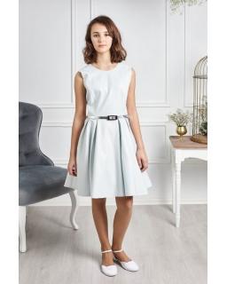 Dziewczęca sukienka z paskiem 140-164 Ofelia miętowa