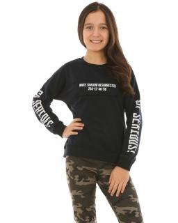 Sportowa bluza dla dziewczynki 134-164 KRP222 czarna