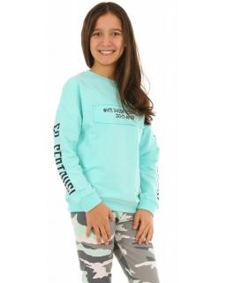 Sportowa bluza dla dziewczynki 134-164 KRP223 miętowa