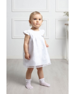 Sukienka w kwiatuszki dla dziewczynki 62-86 Daisy biała