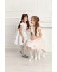 Sukienka z szarfą i kwiatowym wzorem 134-158 Ajsza jasnoróżowa 2