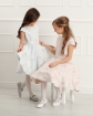 Sukienka z żakardowej tkaniny 134-158 Ajsza srebrna 1