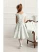 Sukienka ze wzorem w kwiaty 134-158 Ajsza turkusowa 1