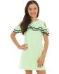 Sportowa sukienka z perełkami 128-164 KRP224 pistacjowy 2