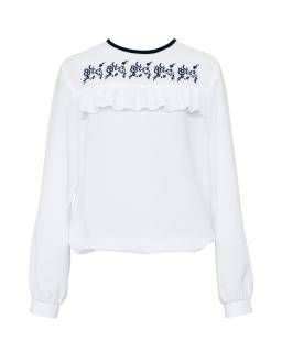Szkolna bluzka dla dziewczynki 122-152 107/S/19 biała