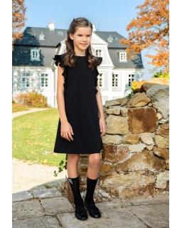 Szkolna sukienka dla dziewczynki 128-164 207A/S/19 czarna