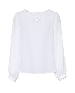 6fc0d84fbb Luźna biała bluzka dla dziewczynki 140-170 114 S 19 biała