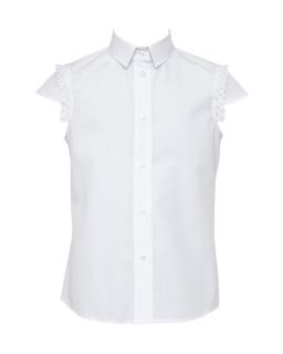 Szkolna bluzka z krótkim rękawem 134-164 105/S/19 biała