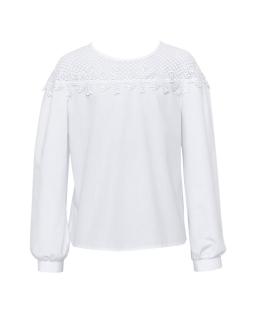 Elegancka bluzka dla dziewczynki 128 -164 118/S/19 biała