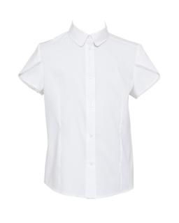 Galowa bluzka z oryginalnym rękawem 128-158 129/S/19 biała