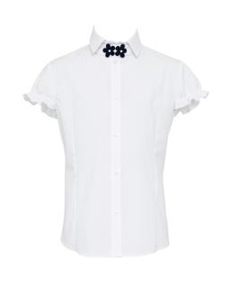 Szkolna bluzka z krótkim rękawkiem 116-152 132/S/19 biała
