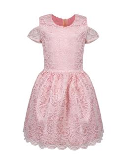 Koronkowa sukienka dla dziewczynki 140-164 Jowita róż