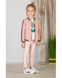 Bluza bomberka dla dziewczynki 104-146 P-110/viw pudrowy róż
