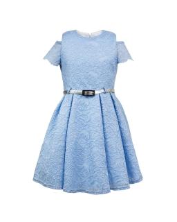 Koronkowa sukienka dla dziewczynki 146-164 Madison niebieska
