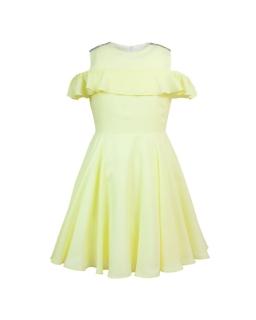 5028985c74 Dziewczęca sukienka okolicznościowa 134-158 Robin żółta