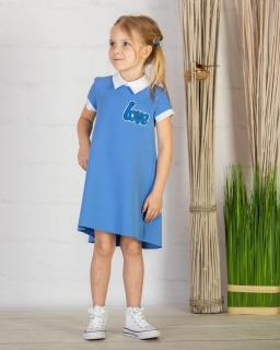 Dziewczęca sukienka 128-158 P-145/viw niebieska