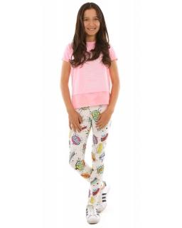 Bawełniane legginsy z nadrukiem 116-158 KRP229