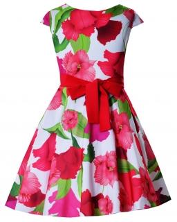 4808beabb5 Rozłożysta sukienka z satyny 128-158 Alyssa czerwona