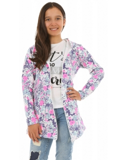 Rozpinana bluza z kapturem 116-158 KRP242 multikolor