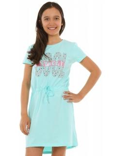 e4cfa2814e Sukienka na lato dla dziewczynki 128-164 KRP244 miętowa